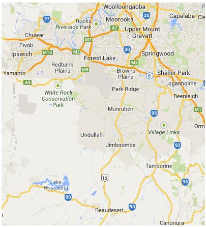 Southern Brisbane Map